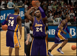 NBA 2K13 Lakers Away Purple Jersey Mod