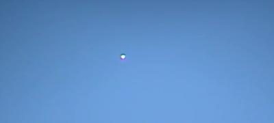 Un'altra immagine del presunto UFO avvistato nel Lodigiano