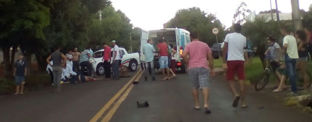 Iretama: Acidente de motocicleta na saída para Roncador