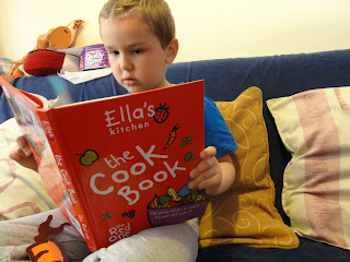 Big Boy Reading Ella's Kitchen The Cook Book The Red One