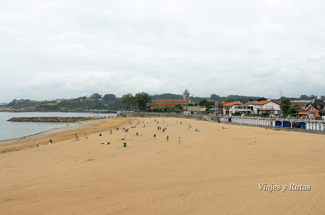 Playa de Luanco o de Santa Marina, Luanco, Asturias
