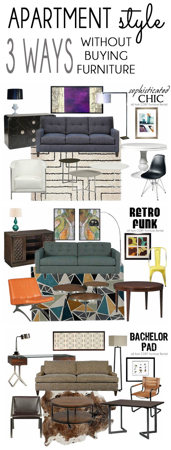 style inspiration} Apartment Style Three Ways, Without Buying ...