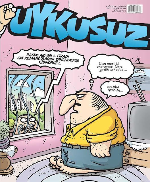 Uykusuz Dergisi - 4 Ağustos 2016 Kapak Karikatürü