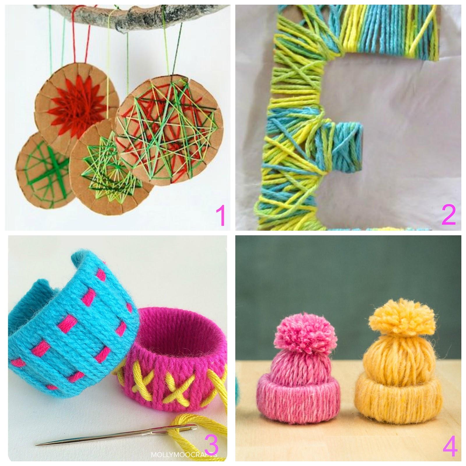 Lavoretti per bambini con lana e cartone - Lavori da fare a casa ...