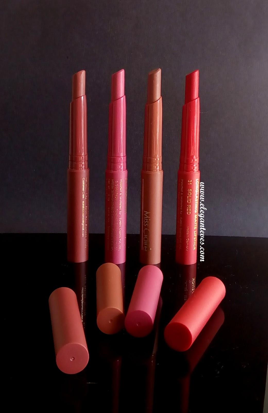 Long Lasting Exterior House Paint Colors Ideas: Review Of Miss Claire Long Lasting Matte Lipsticks