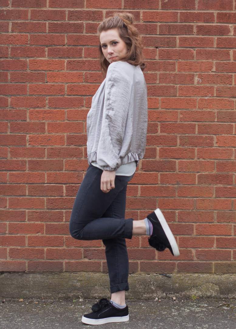 marisa thorne silk bomber jacket uk fashion blogger