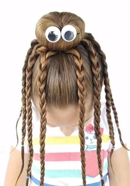 Crianças cabelo para Halloween