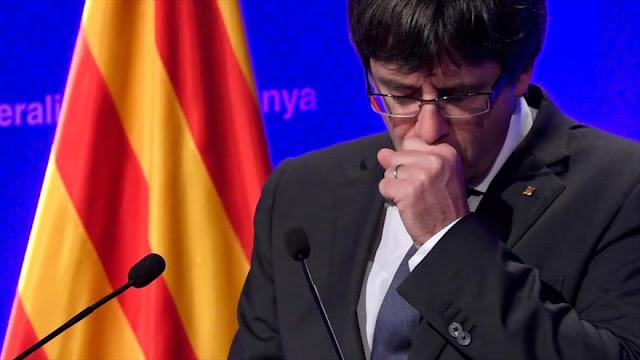 Puigdemont renuncia a ser investido como presidente de Cataluña