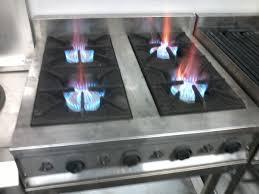 Kompor Berbentuk Meja Dengan Besarnya Api Dan Tekanan Yang Dapat Di Sesuaikan Permintaan Kebutuhan Low Atau Medium Pressure Besar Diameter