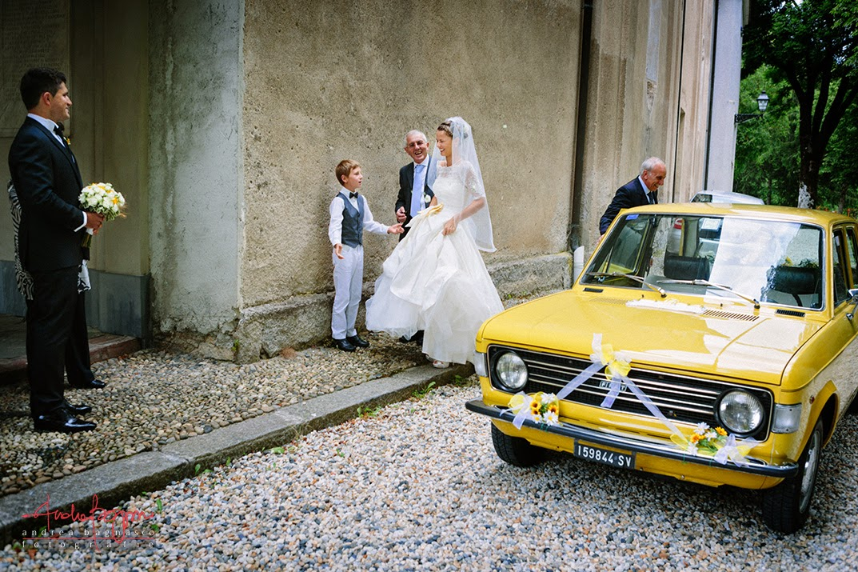 sposi matrimonio Genova vecchia fiat 131