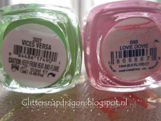 Essie Truth or Flare, Vices Versa, Lovie Dovie, I'm Addicted