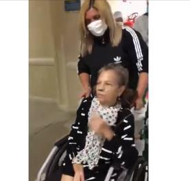 Sra. Eurídice recebeu alta do Hospital Regional da Chapada,  após está recuperada do Covid-19