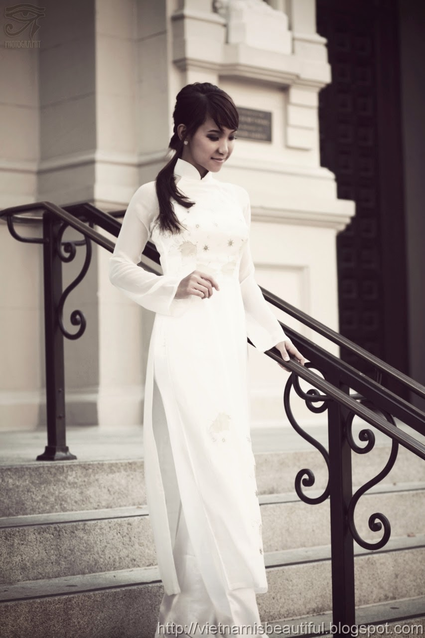 Wallpaper Country Girl Collection Ao Dai Vietnam Classic Style While And Black