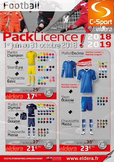 Packs Maillots/Shorts/Chaussettes Eldera 2018