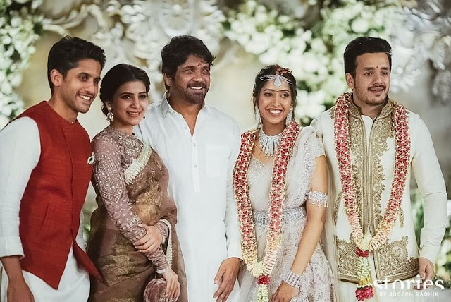 Akhil Akkineni and Shriya Bhupal Engagement Photos