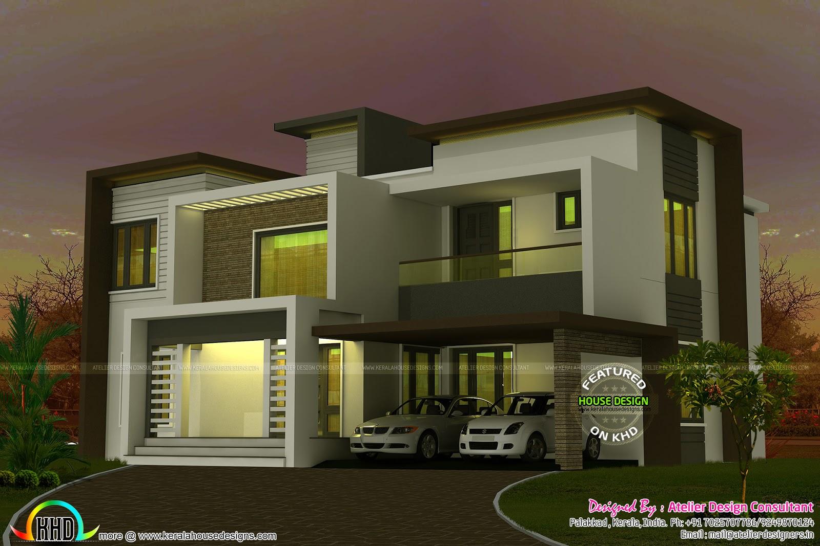 2635 square feet box type home kerala home design and
