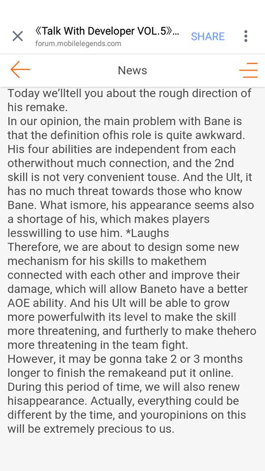 bane rework news