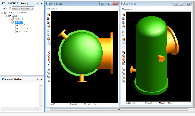 PDMS Model Macro to Create Vertical Vessel