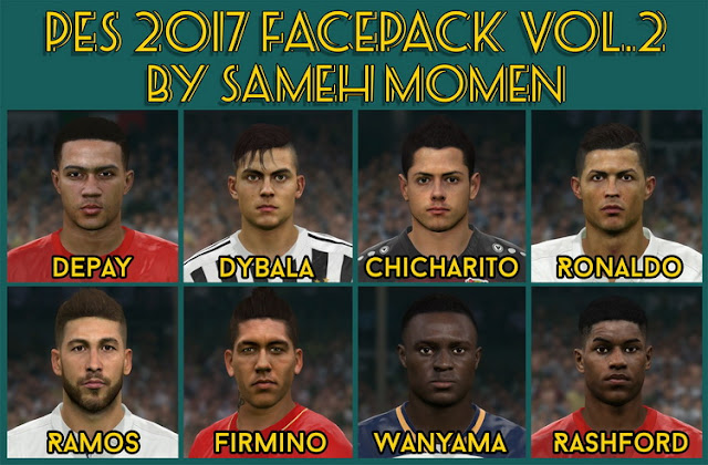 PES 2017 Facepack vol. 2 by Sameh Momen