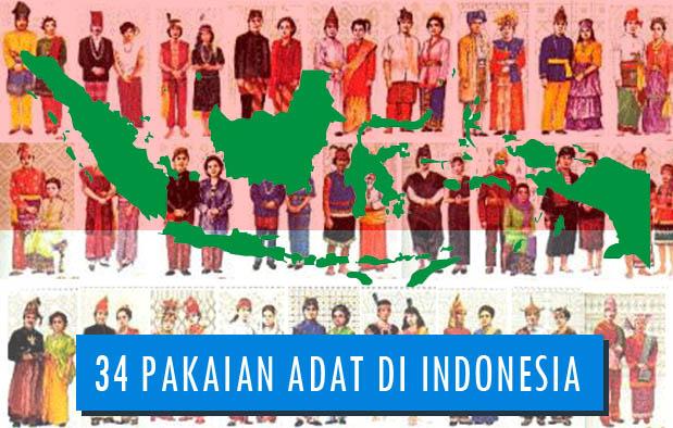 34 pakaian adat indonesia gambar nama tabel dan