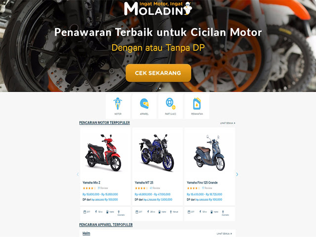 sebelumnya moladin yaitu sebuah aplikasi smartphone yang diciptakan khusus untuk para bi WEBSITE MOLADIN.COM RESMI DIRILIS