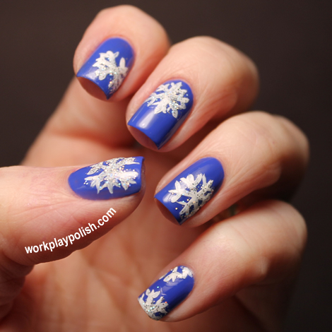 Essie Butler Please Snowflake Nail Art