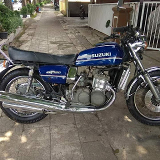 Dijual Moge Suzuki GT75 liquid cooled  th 1974