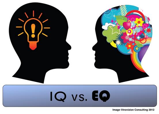 Seseorang dengan IQ yang baik tanpa dibarengi dengan EQ yang baik akan baik secara pola pikir logika namun tidak mampu mengendalikan emosi dirinya, dan sulit berkomunikasi dan benegosiasi dengan baik. Contoh :