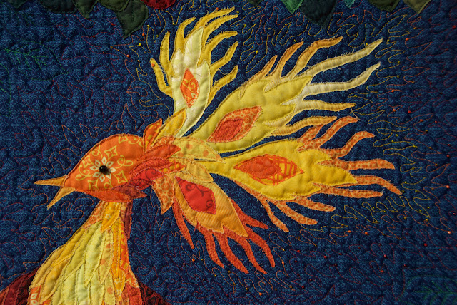 bird art quilt