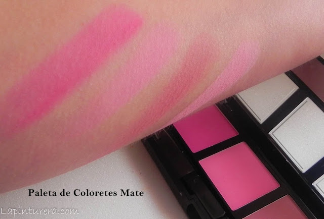 Paleta de coloretes mate swatches