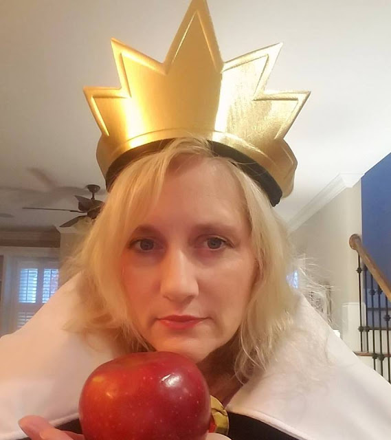 Evil Queen Costume with apples as the star of the party.