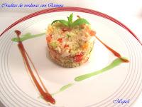 Crudites de verduras con Quínoa