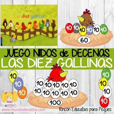 Juego Decenas Diez Gallinas