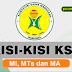 Kisi Kisi Kompetisi Sains Madrasah (KSM) MI, MTs, dan MA Tahun 2018