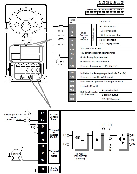 elektrikal engineer: Wiring Diagram Inverter LS & PLC and