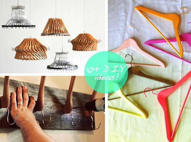 perchas ropa, reciclar, manualidades, bricolaje, diys