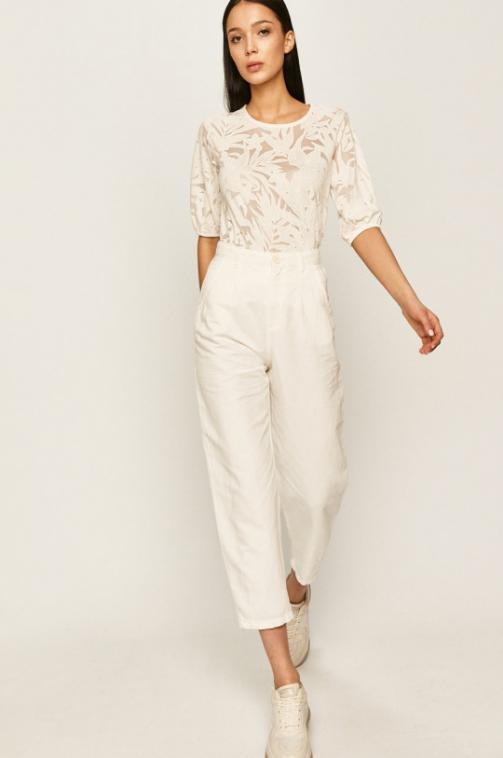 Answear - Pantaloni trei sfert uri de vara cu talie inalta