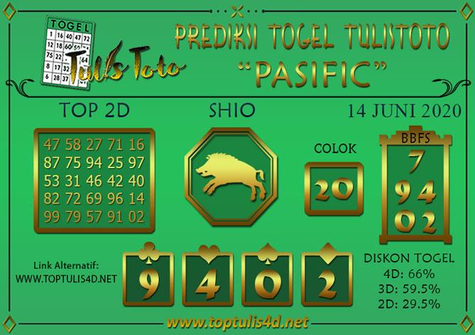 Prediksi Togel PASIFIC TULISTOTO 14 JUNI 2020