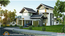 Contemporary House Sloping Roof