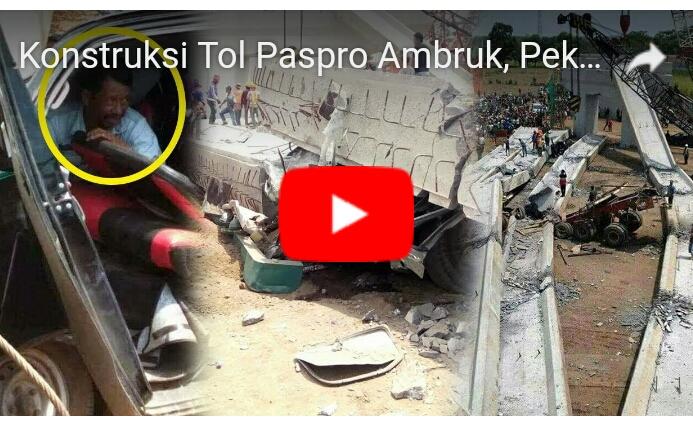Ngeri! Video Detik-detik Tol Pasuruan-Probolinggo Ambruk, 3 Orang Tertimpa Beton