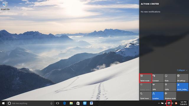 Windows 10'da Masaüstü Görüntüleme