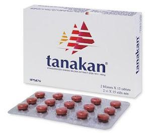 Thuốc Tanakan của Pháp với hoạt chất cao lá Bạch quả- Ginkgobiloba