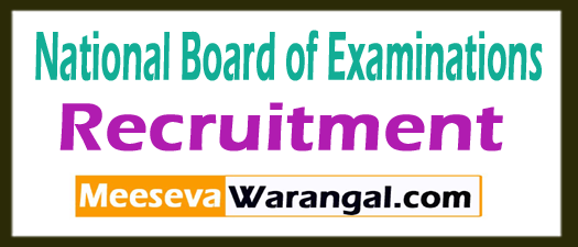 National Board of Examinations NBE Recruitment