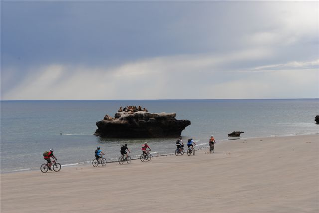 mountainbike desde Puerto Piramides a San Pablo Valdes