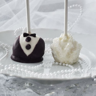 bride groom cake pop