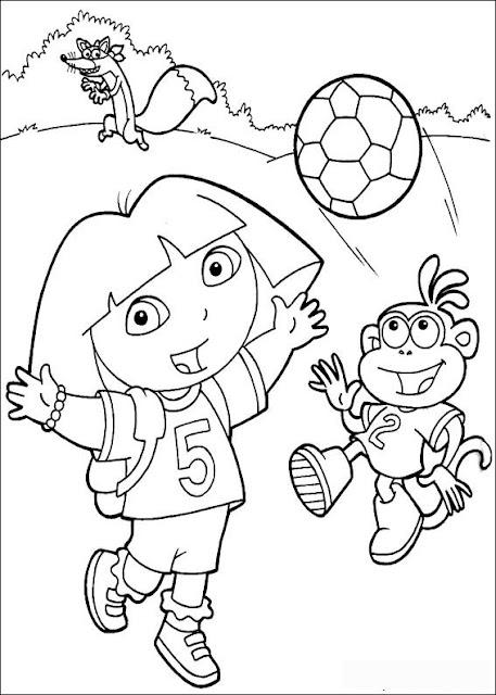 Gambar mewarna - Dora the Explorer