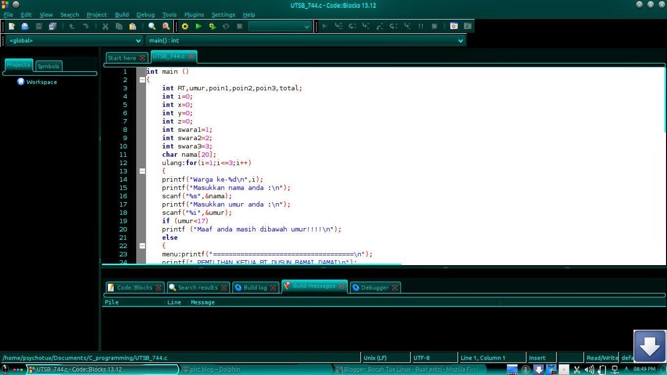 Linux : Cara Mudah Install Code::Blocks di Ubuntu