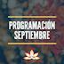 Programación Mes de Septiembre