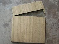 山桜縦長木製財布