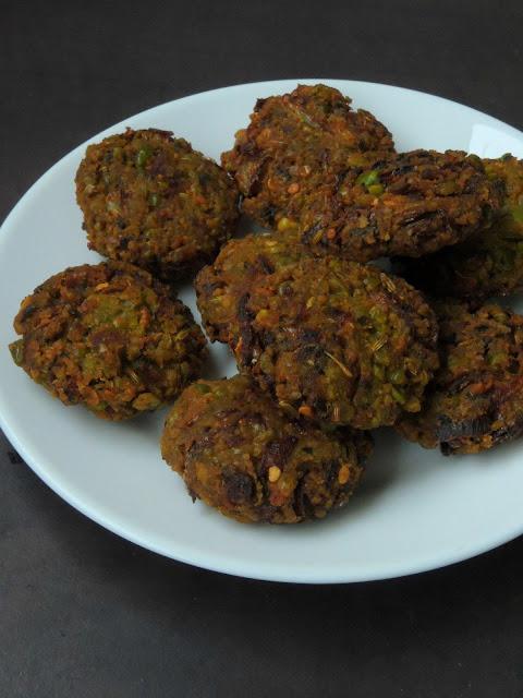 Mixed lentils, Dals Vada, Mixed Dals Vada
